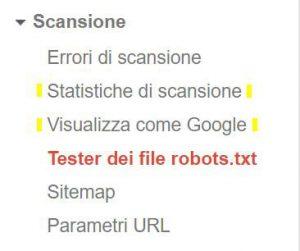 tester dei file robots